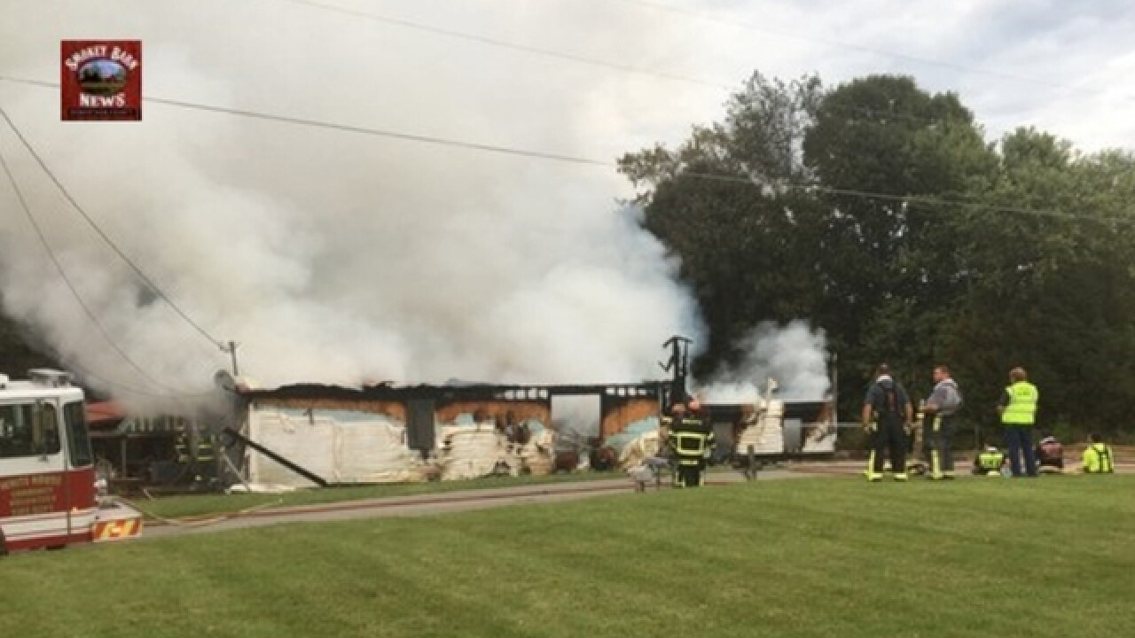 Home Burns In Large Fire In Cottontown