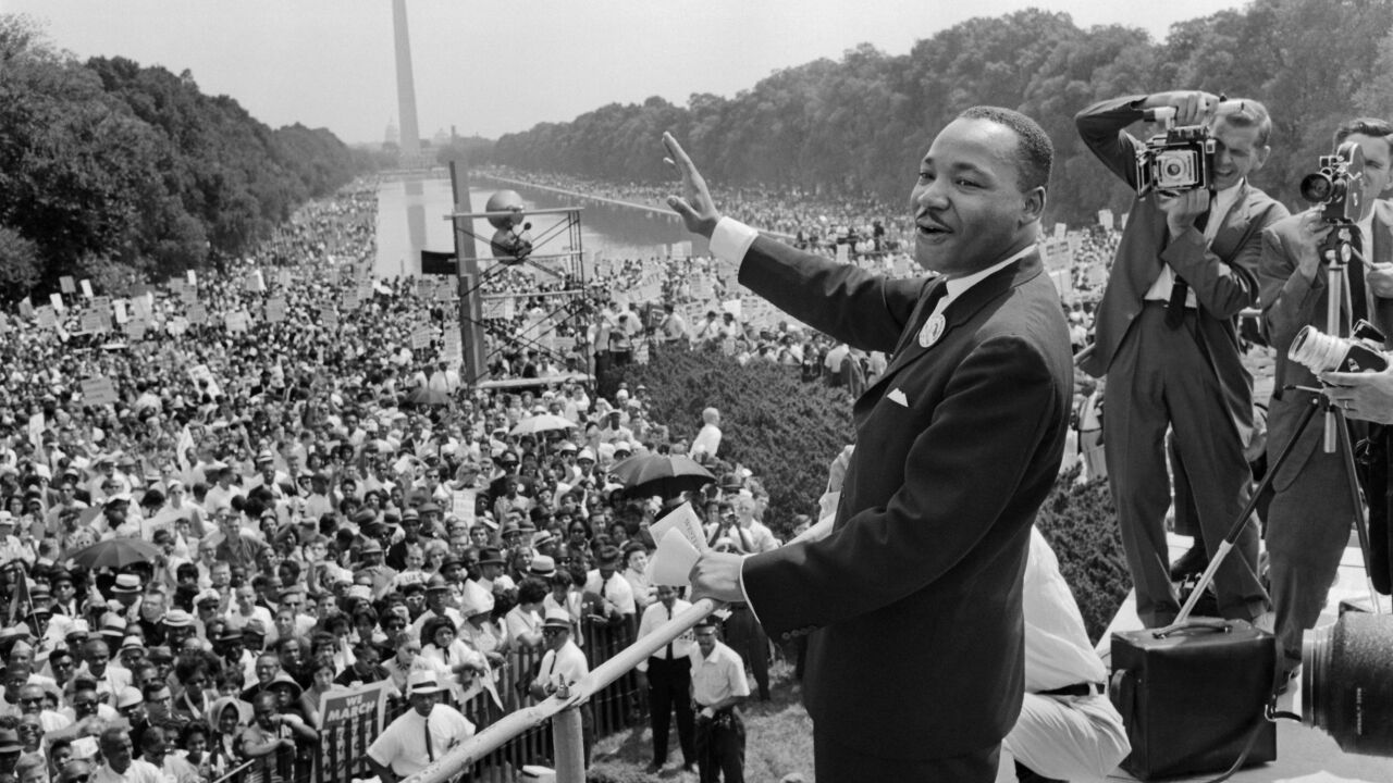 "On this day in 1963, Martin Luther King Jr. gave his iconic ""I Have a Dream"" speech"