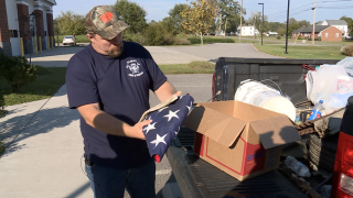 Firefighter finds folded American flag, box of sentimentals along 288