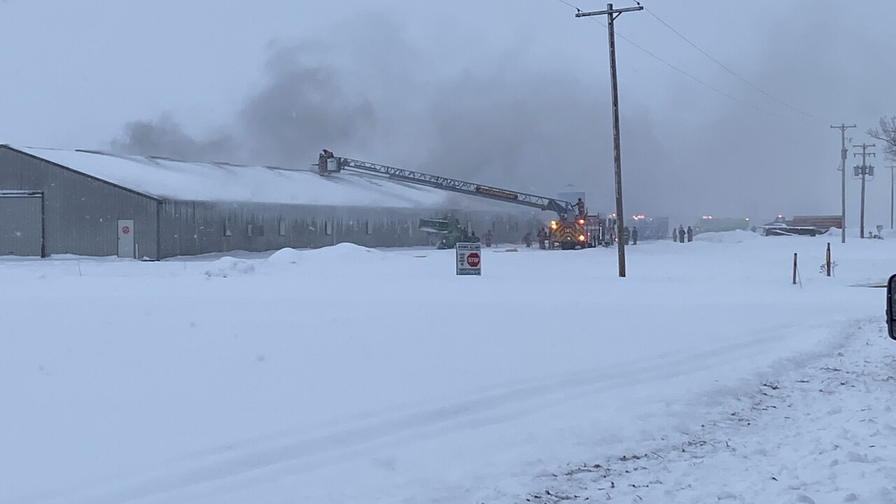 Polkton Township barn fire
