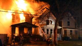 Crews battle multiple-alarm fire in Niagara Falls