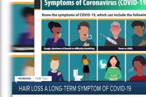 Hair loss a long-term symptom of COVID-19