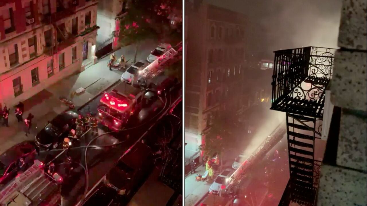 6 injured in Washington Heights apartment fire
