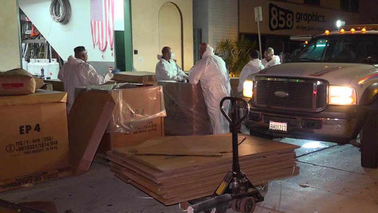 DEA agents, hazmat crews raid San Diego business
