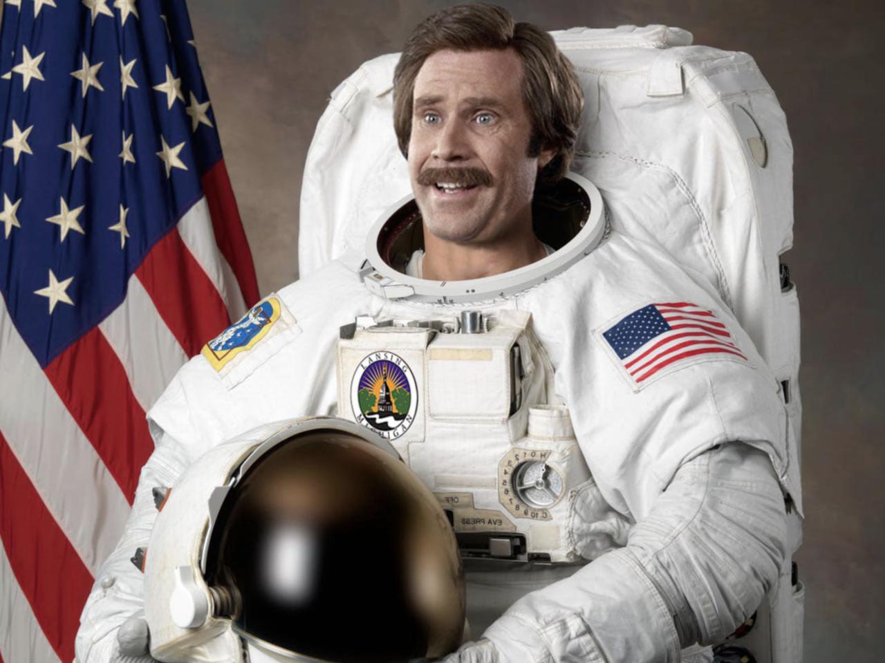 Ron Burgandy promises more space exploration