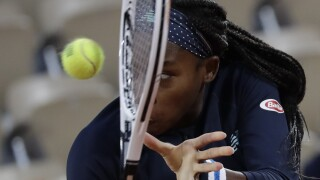 Coco Gauff on opening day of 2020 French Open