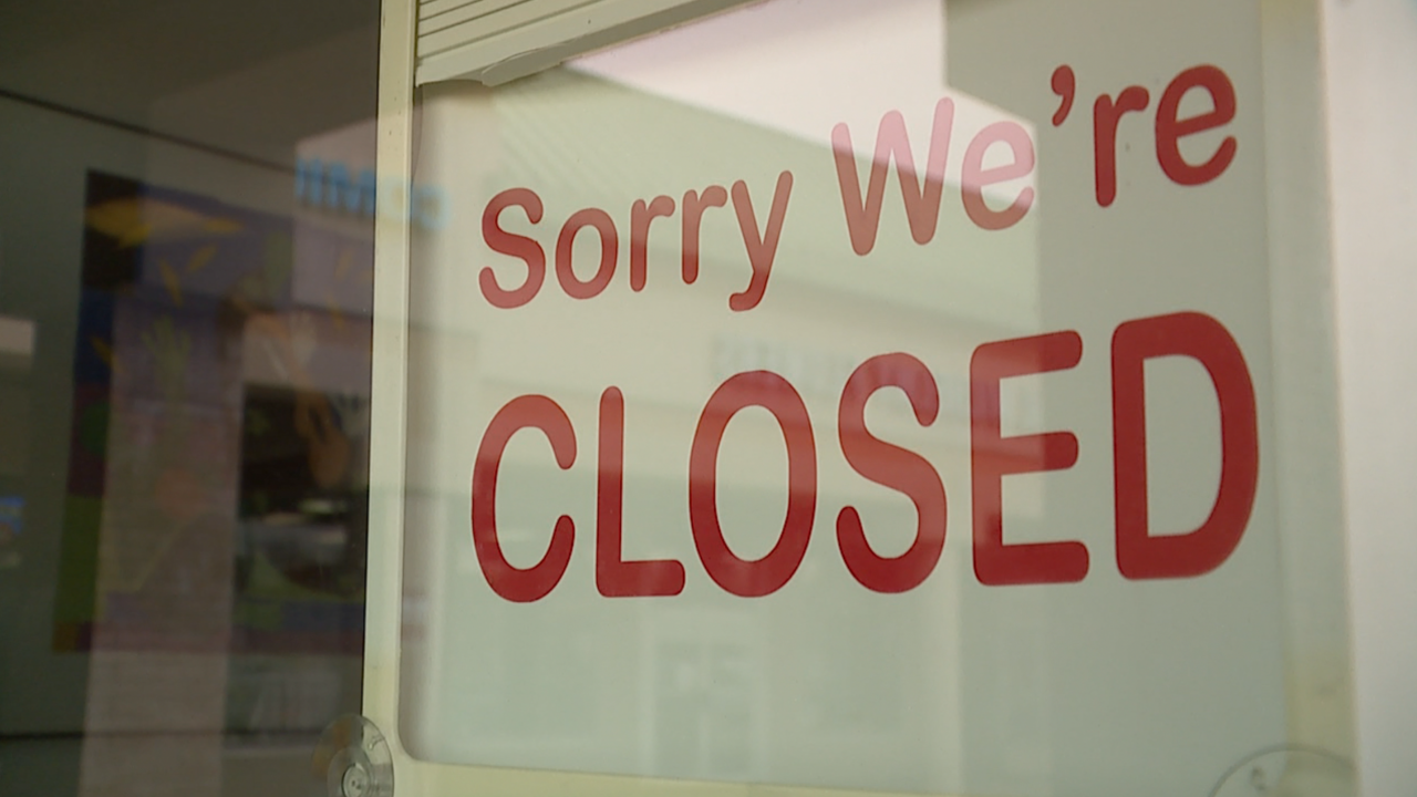 we're closed sign