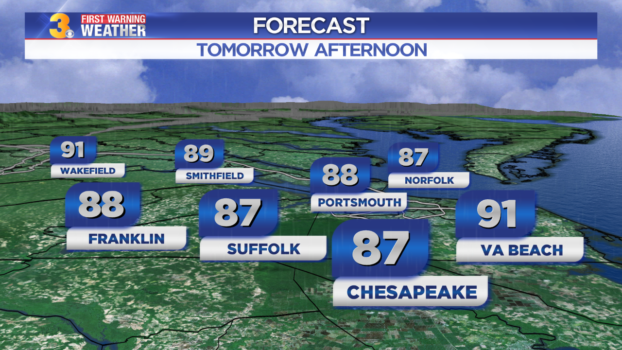 First Warning Forecast: Back to the 80s, rain chances increase