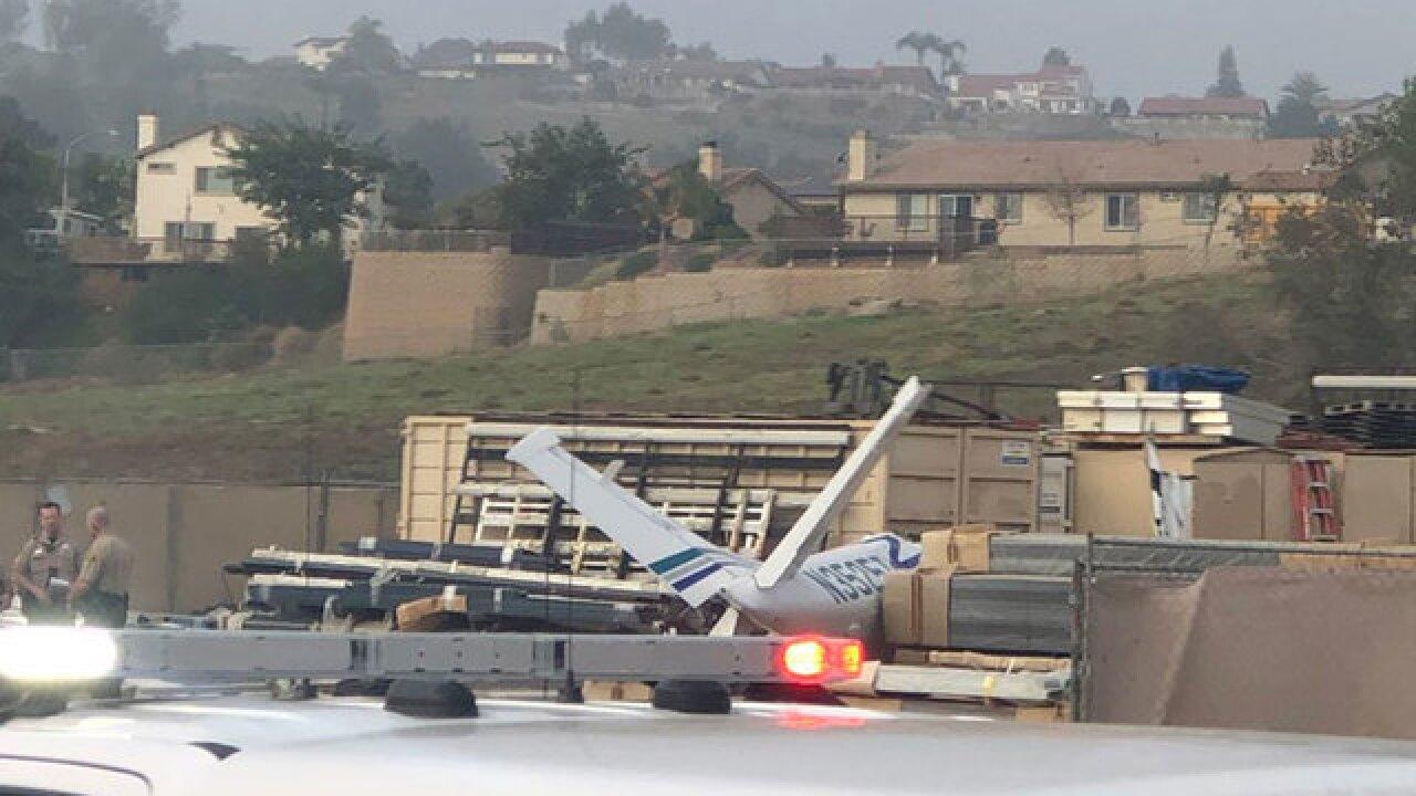 Plane crash reported in Santee area