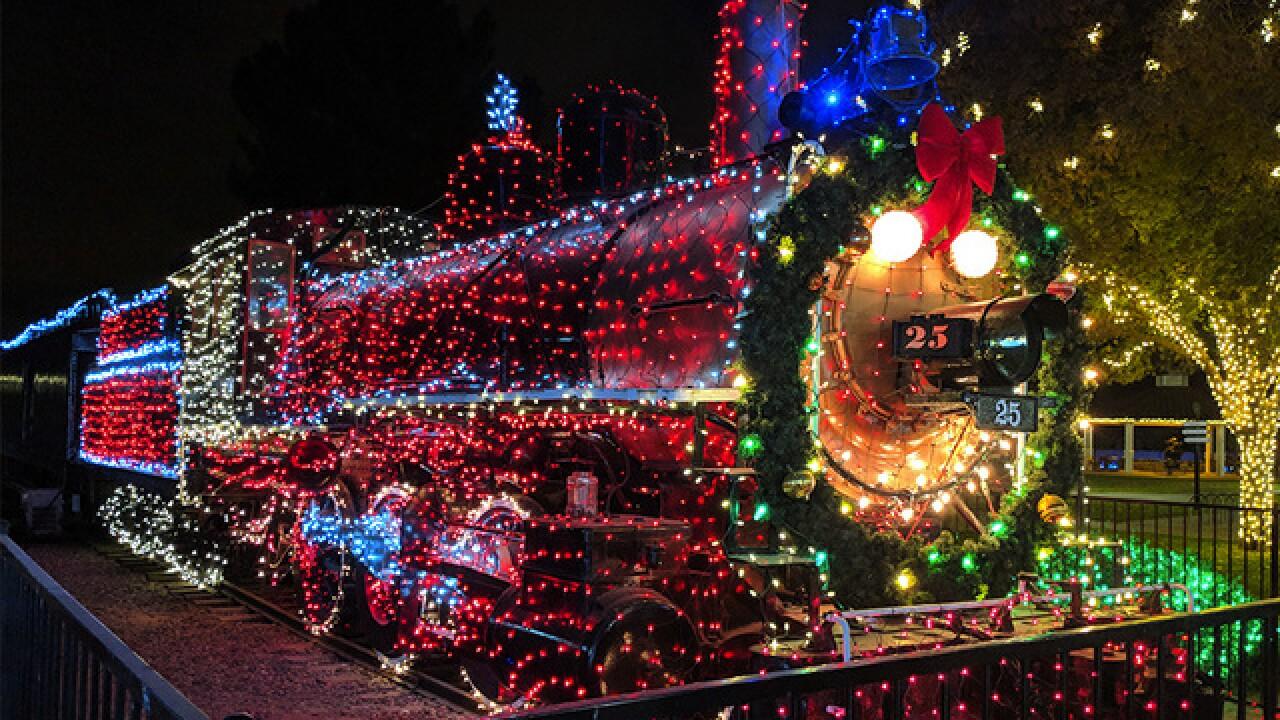 Holiday Lights In Phoenix Ride Mccormick Stillman Railroad Park Train