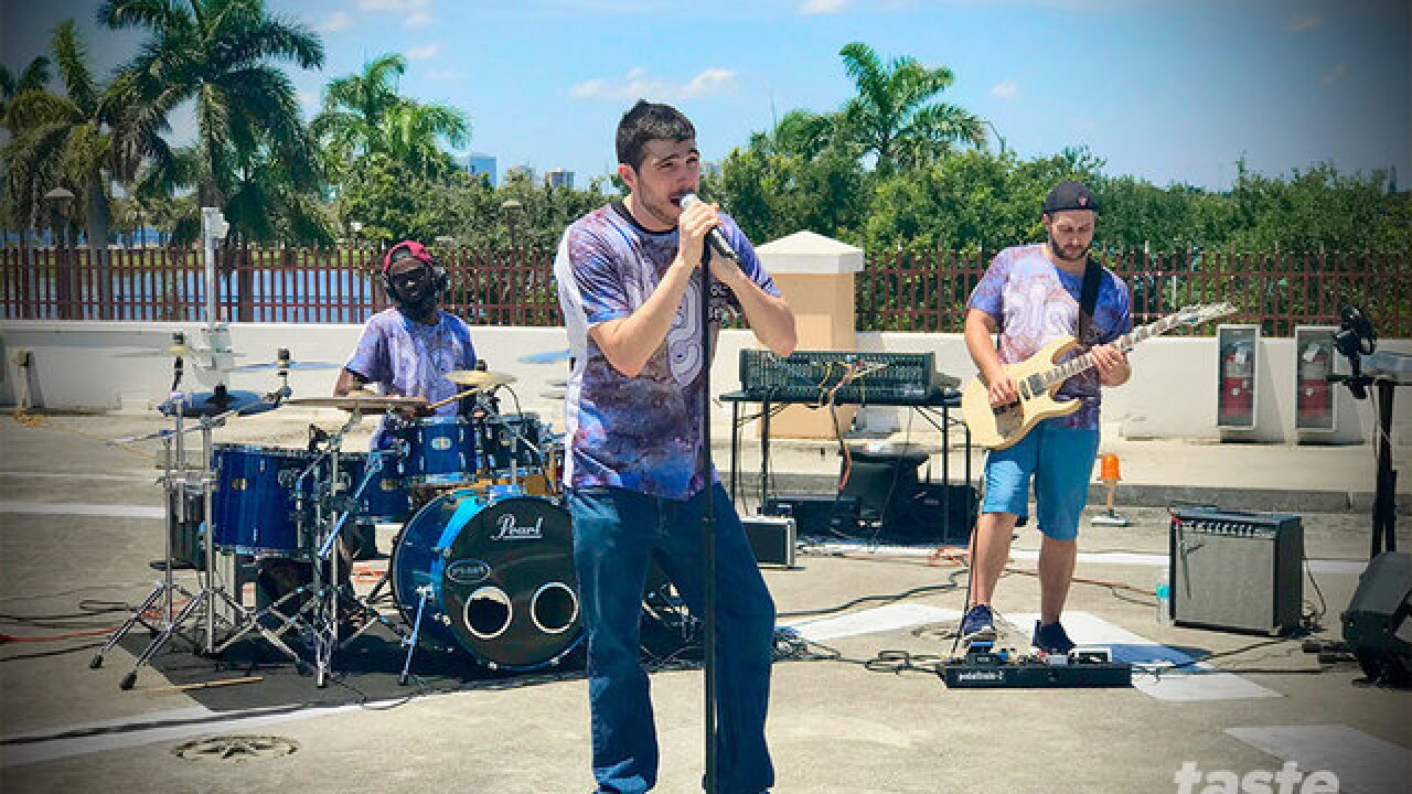 SunFest's Battle of the Bands winners play the WPTV Helipad
