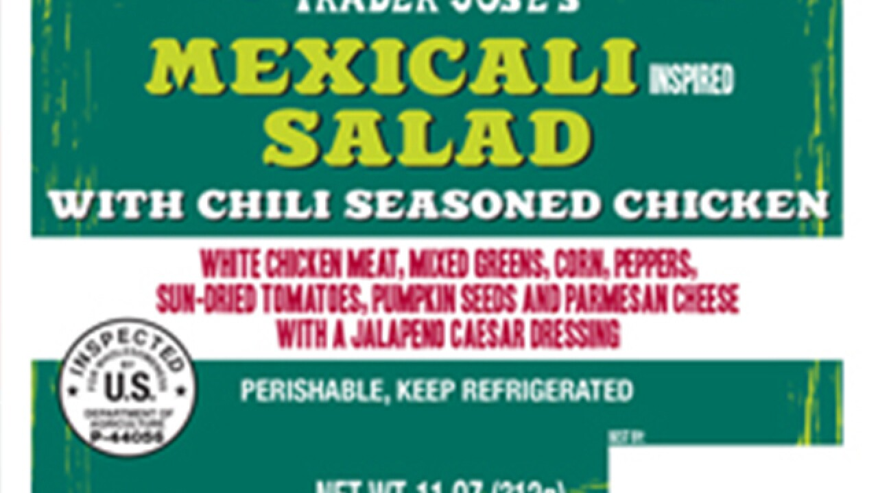 Trader Joe's salads recalled for risk of listeria and/or salmonella