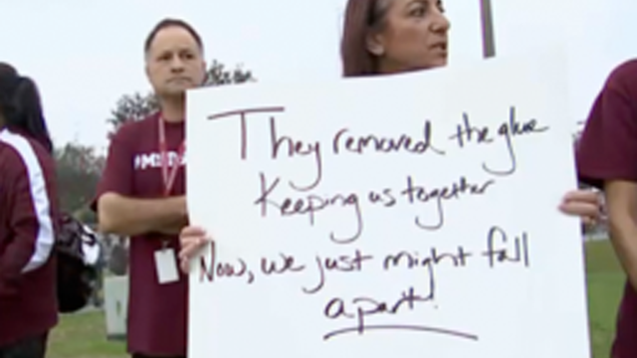 Reassignments prompt walkout, protests at Marjory Stoneman Douglas High School
