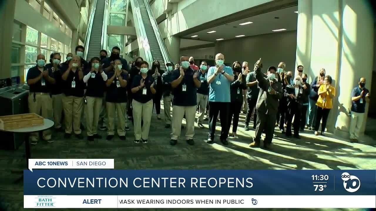San Diego Convention Center reopens this weekend