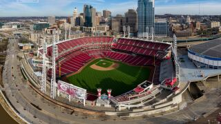 Great empty GABP Reds ballpark aerial Sky 9.jpg