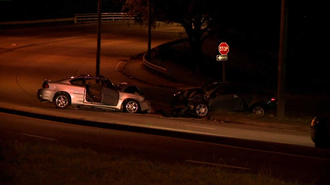 Three people taken to hospital in Tidewater Drive crash