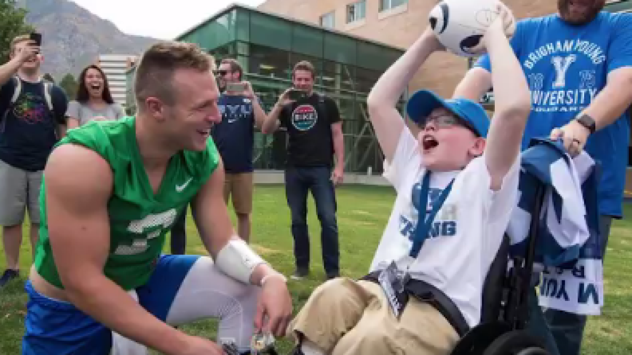 From BYU to the New Orleans Saints, this Utah teen has stayed Taysom Hill's No. 1 fan