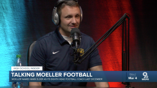 Moeller football coach Mark Elder