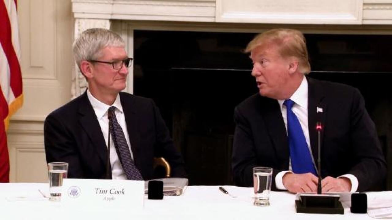 Trump says 'Tim Apple' comment wasn't a slip of the tongue but 'an easy way to save time & words'