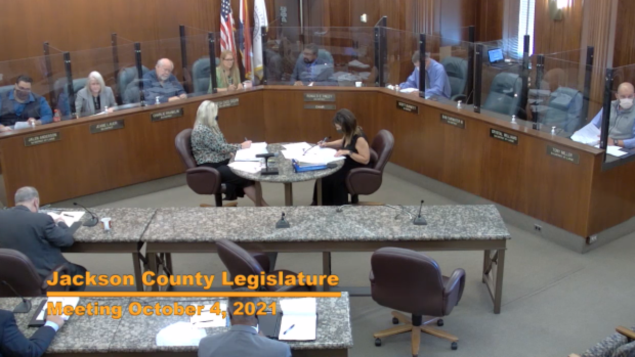 Jackson County Legislature 10-4-21 mask mandate