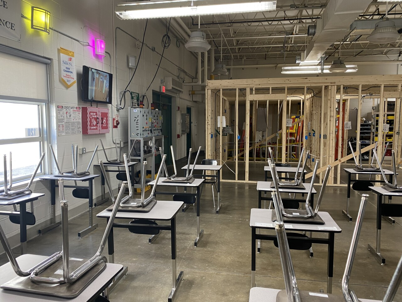 Instructors say it's hard to get girls into Building Trades classes at the Harkness Center