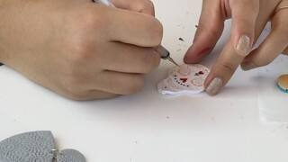 Stephanie Morales creating jewelry