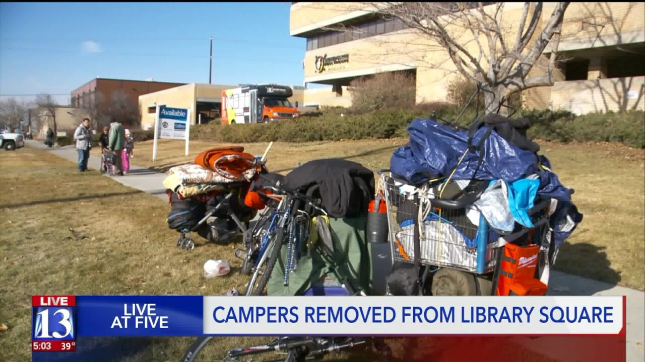 'Clean-up' of camps at SLC Library Square leaves homeless feeling harassed, neighbors grateful