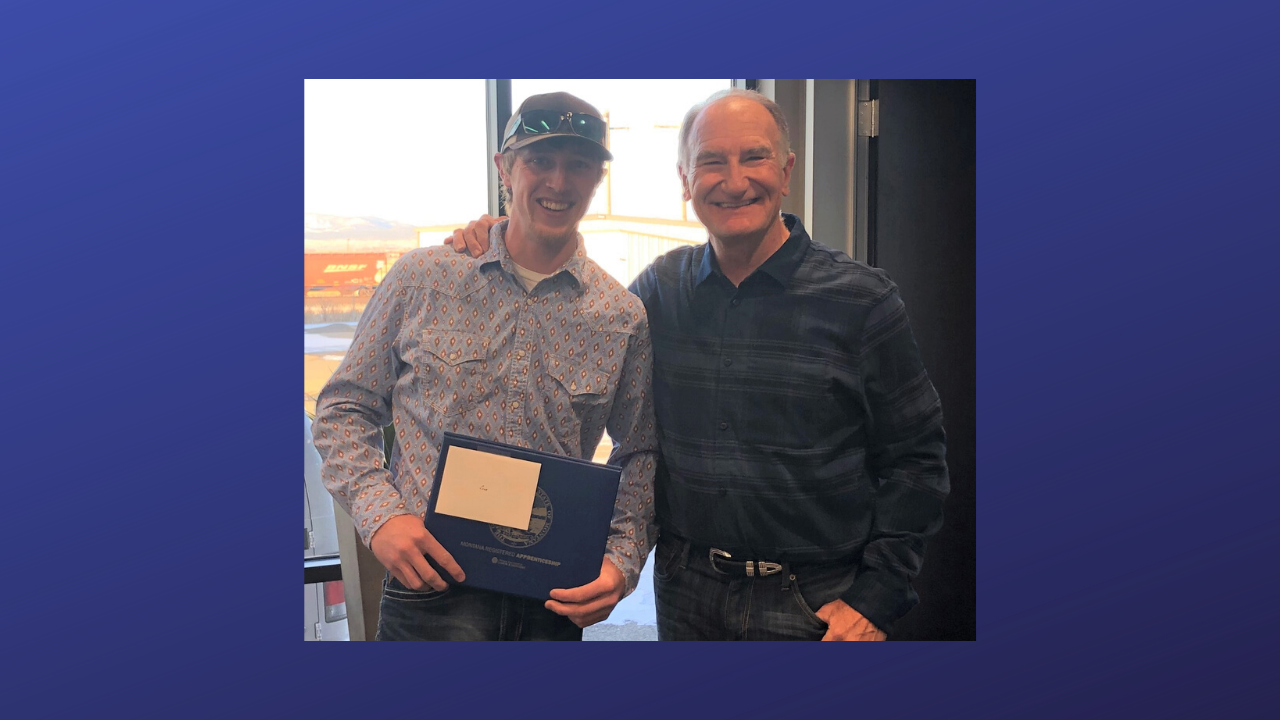 Cole Morse, Dick Anderson Construction employee with Chairman and Founder, Dick Anderson