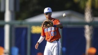 Florida Gators shortstop Jordan Carrion in 2021