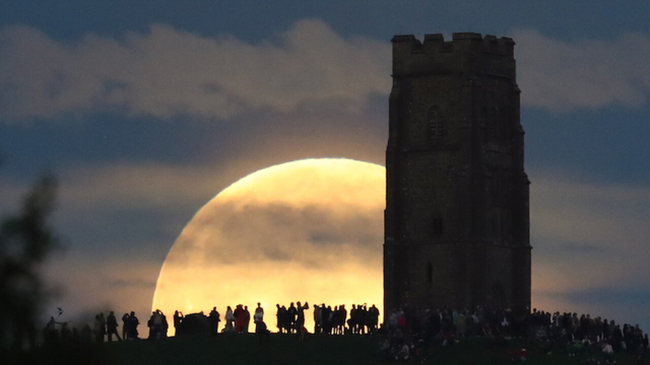 See some really great photos of the rare 'strawberry moon'
