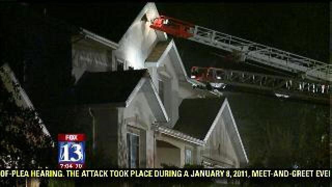 2-alarm house fire in Draper