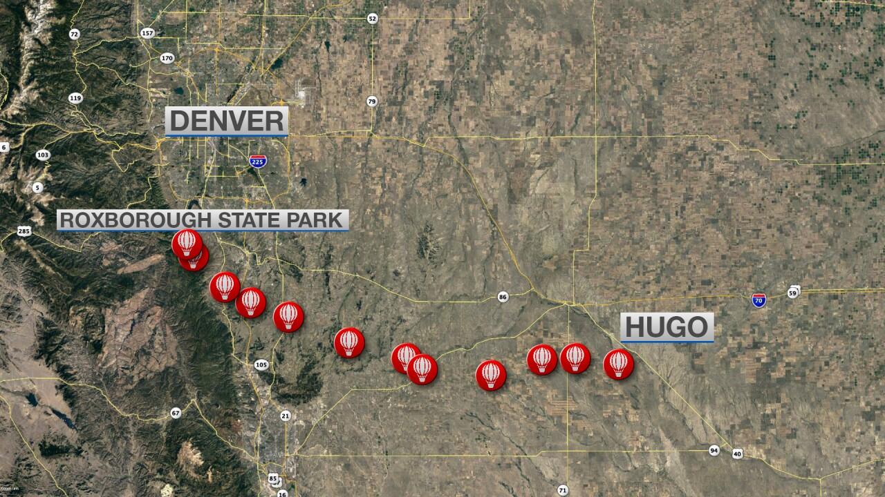 High Altitude Balloon Launch Path Across Colorado