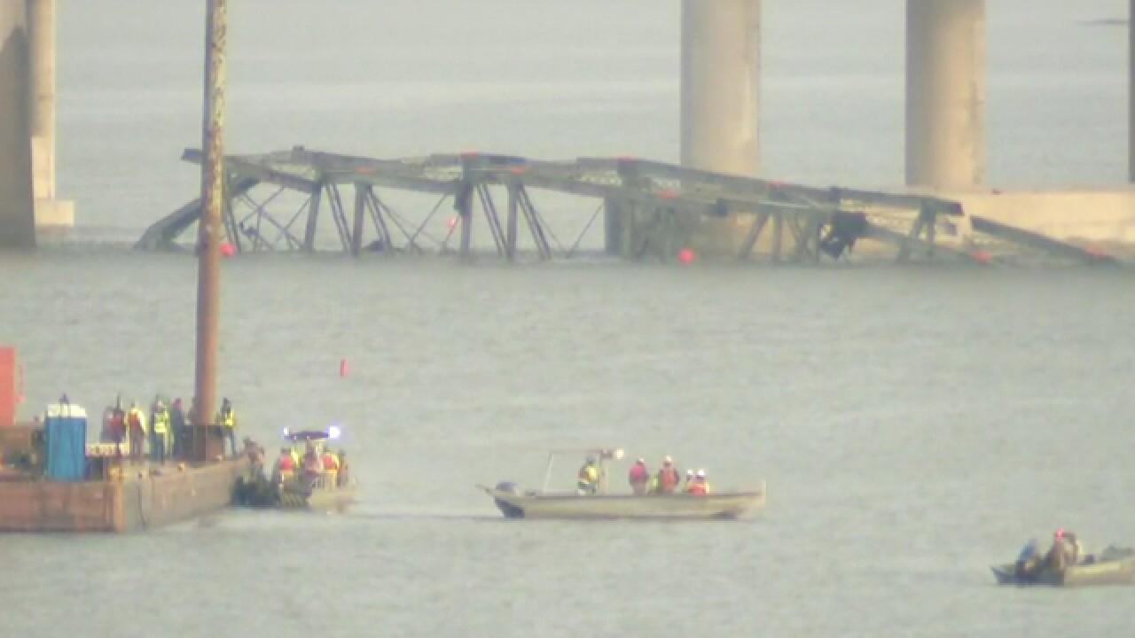 Crews Demolish Old Lake Barkley Bridge In Ky.