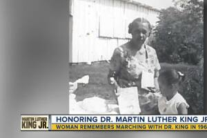 Woman who marched with MLK remembers his powerful message