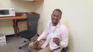 Basheer Jones vaccinated