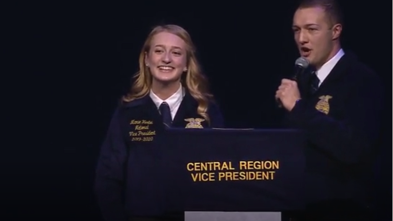 Moore's Mamie Hertle is the first female from the Montana to become a National FFA officer