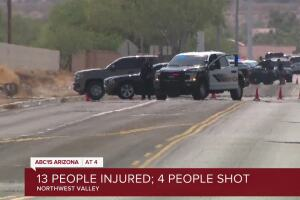 1 killed, 3 others shot and 9 more injured in West Valley shooting spree