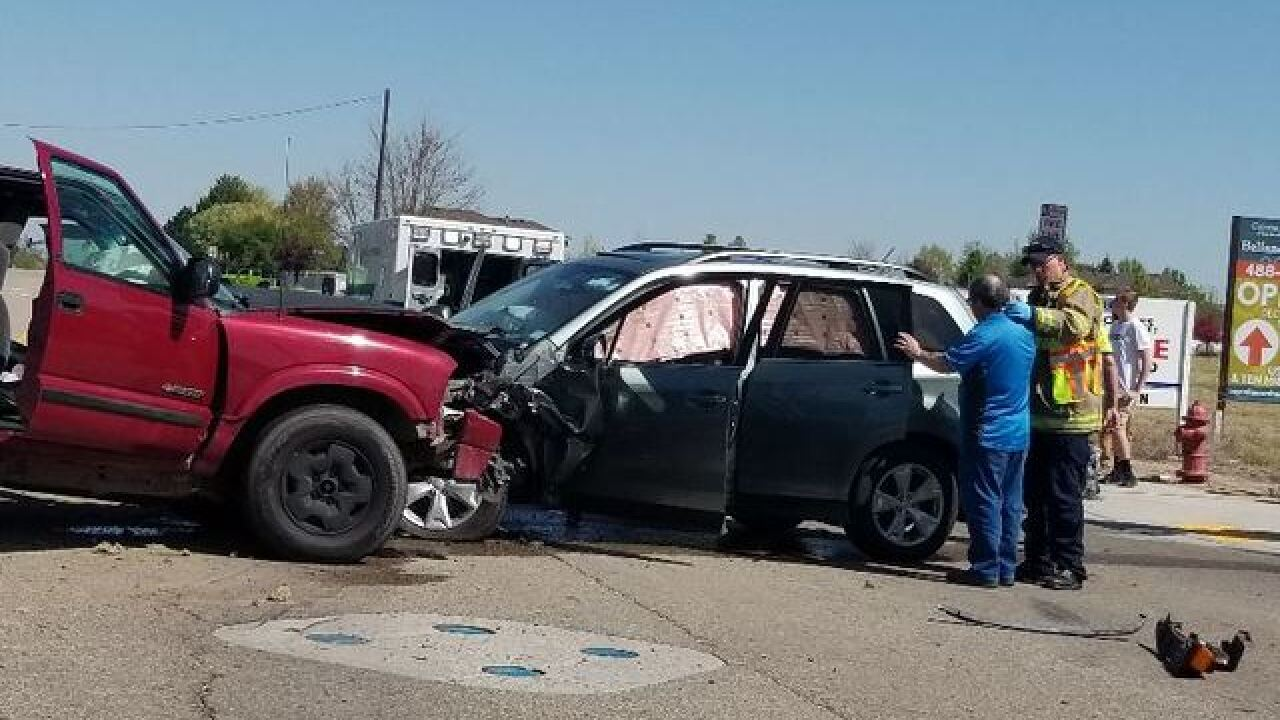 Multiple injuries in Meridian crash