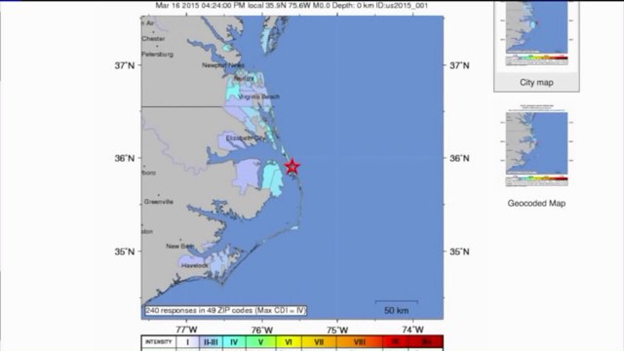 No earthquake in Hampton Roads, Outer Banks — but what caused all theshaking?