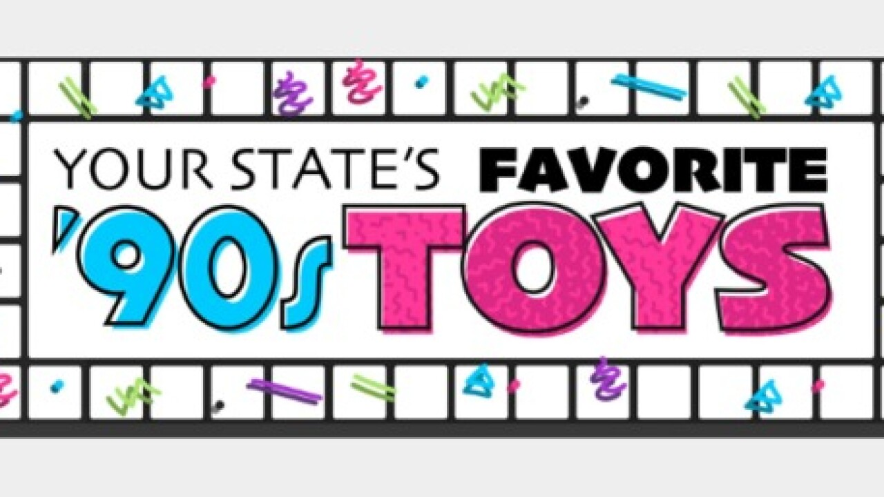 Most popular '90s toys in each state