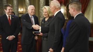 John McCain, Cindy McCain, Joe Biden