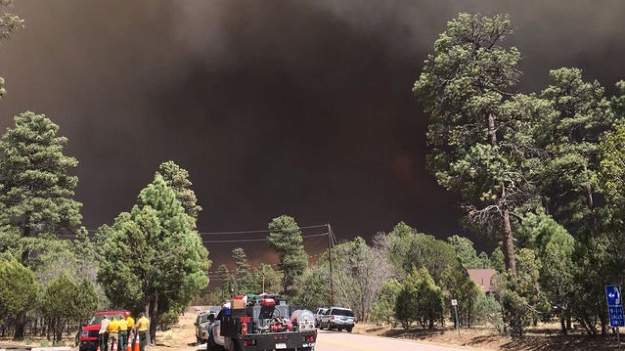 Evacuations ordered for Tinder Fire by CCSO
