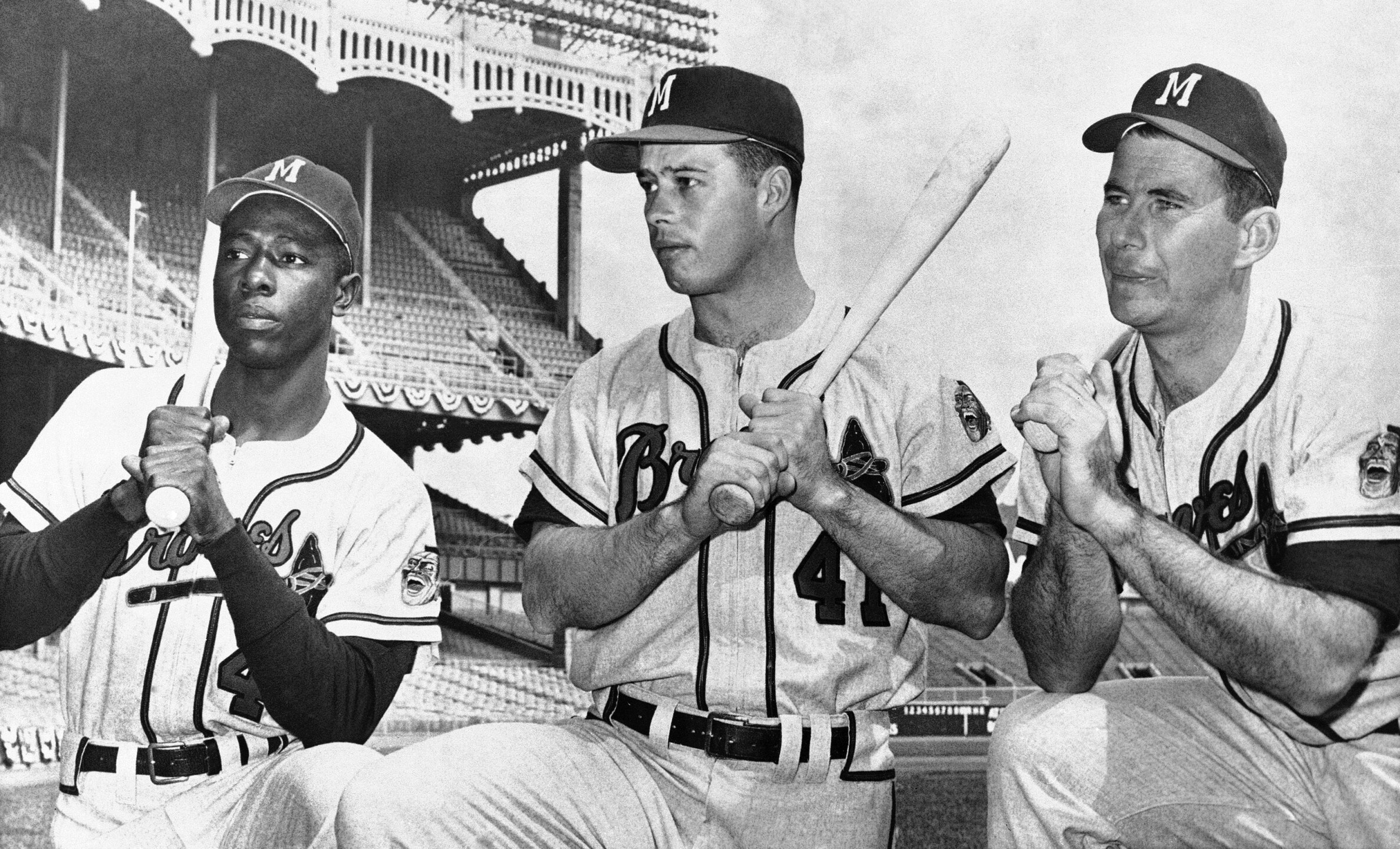 Hank Aaron, Eddie Mathews, Joe Adcock