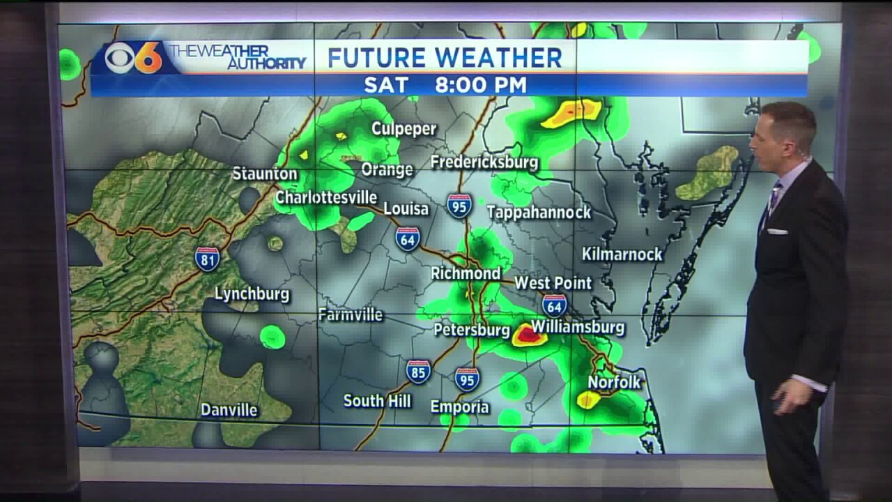Staying muggy with some storms around thisweekend