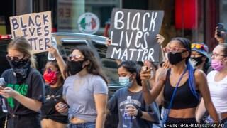 protestors in Dallas, Texas