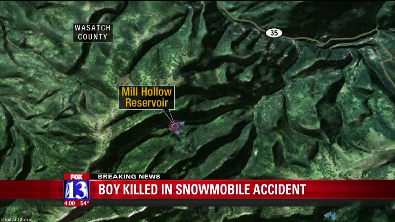Salt Lake County boy killed in snowmobile accident in Wasatch County