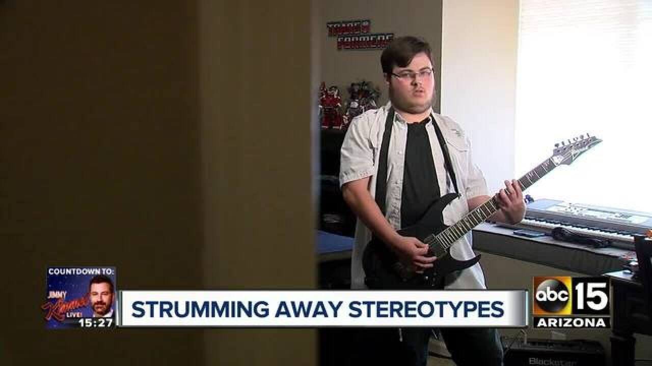 Arizona student with autism rocks national anthem performance