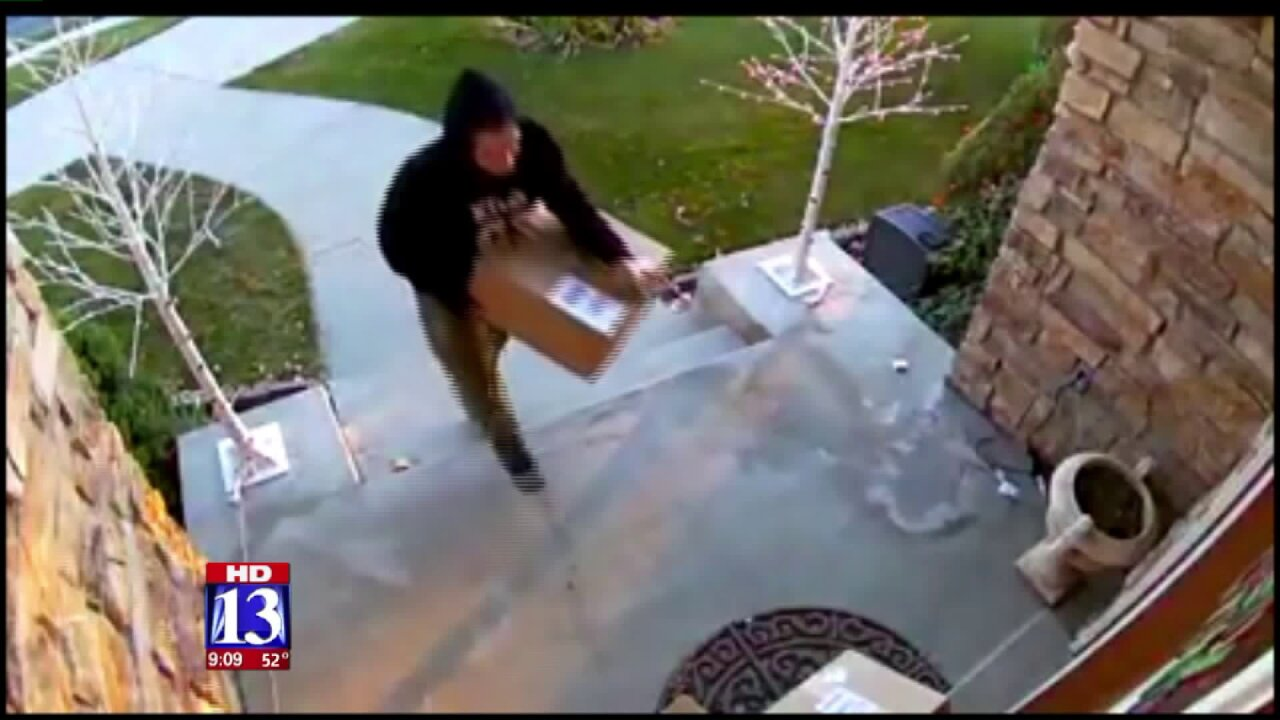 Thief in Highland takes Christmas packages from porch, leaves empty box behind
