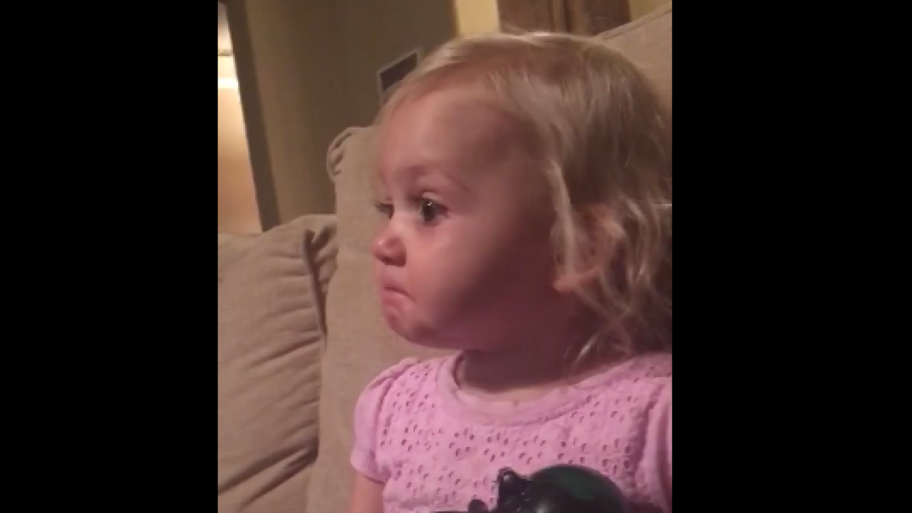 This 2-year-old girl's reaction to a movie is making the internet emotional