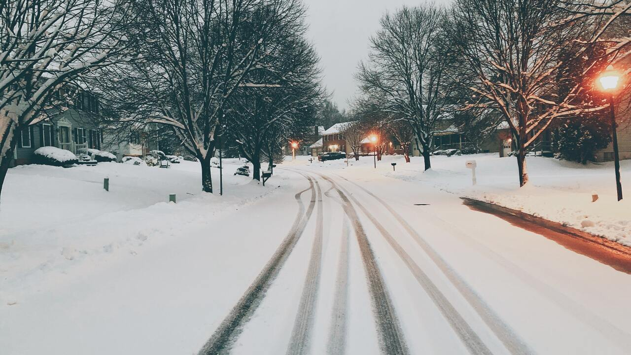 File image of snow covered streets.
